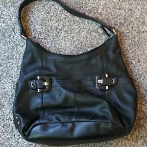 Black leather Tignanello purse